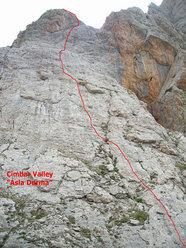 Cimbar Valley - il tracciato di Asla Durma