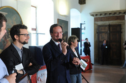 Egidio Bonapace, Sergio Fant and Luana Bisesti during the official Award's ceremony