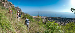 Approach to Pompa funebre - Monte Pellegrino - Parete dei Rotoli, Sicily
