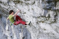 Adam Ondra climbing at Malham Cove, England
