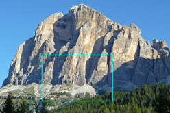 The imposing Tofana di Rozes in the Dolomites