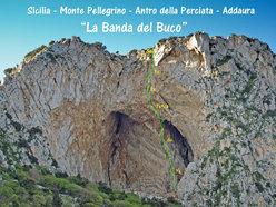 The route line of Banda del Buco - Antro della Perciata, Monte Pellegrino