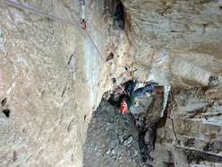 The top of pitch 3 of La banda del buco - Antro della Perciata, Palermo, Sicily