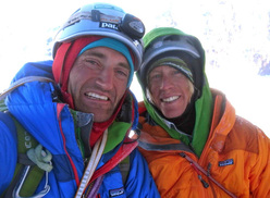 British mountaineers Jon Bracey and Matt Helliker