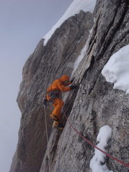 The Cartwright Connection -  the North Face of Mt. Hunter, Alaska. FA Jon Bracey and Matt Helliker 13 – 18 May 2011 Ca 6000ft, Alaskan grade 6 (M6, AI6, 5.8, A2)