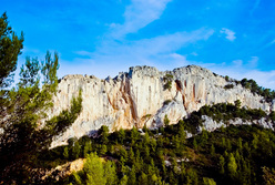 The historic crag Cimaï close to Toulon, south of France.