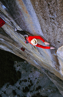 Leo Houlding su The Prophet, El Capitan, Yosemite, USA