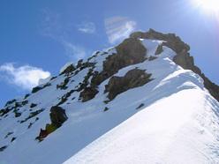 La salita di Apnea, lungo la parete nord del Pizzo Painale (3248m) Gruppo dello Scalino, Alpi retiche.