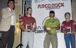 The winners of Arco Rock Legends 2007, Patxi Usobiaga and David Lama, together with Angela Eiter