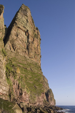 The Long Hope Route at St John's Head, Orkneys, Scotland