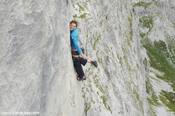 Nina Caprez and the first female ascent of Silbergeier, Rätikon, Switzerland