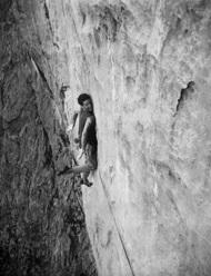 Pietro dal Prà climbing Silbergeier
