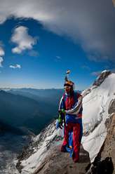 Valery Rozov and the first BASE jump off the Italian side of Mont Blanc.