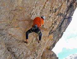 Dejan Koren nel grande tetto di Il mio criceto, Tofana di Rozes, Dolomiti