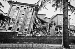 After the earthquake in L'Aquila, 2009