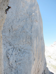 Iker & Eneko Pou making the first free ascent of Gorilas en la Roca, Naranjo de Bulnes, Picos de Europa, Spain