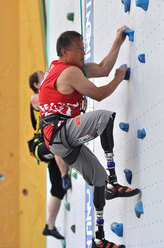 The Speed discipline of the 1st IFSC ParaClimbing World Championship in Arco