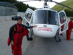 Steph Davis prior to her BASE Jump off the Tofana di Rozes (Dolomites)