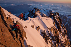 La Classica Moderna, the summit ridge at sunset.