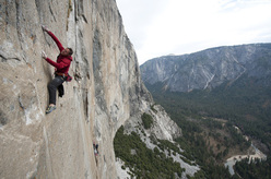 Tommy Caldwell and Kevin Jorgeson on the Dawn Wall project, El Capitan in Yosemite.
