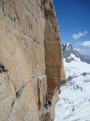 Le tresor de Romain 8a+, Grand Capucin, Monte Bianco