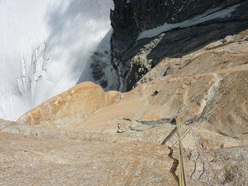 Le tresor de Romain 8a+, Grand Capucin, Mont Blanc