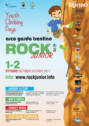 Il Rock Junior - European Youth Climbing Days, il più grande festival mondiale dedicato a tutti i giovanissimi dai 5 ai 13 anni si terrà sabato 1 e domenica 2 ottobre 2011 ad Arco, Lago di Garda.