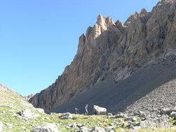 verso la parete delle Aiguiles du Vallonasso