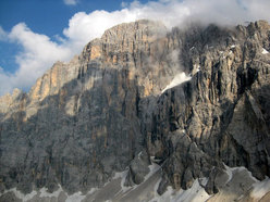 The massive NW Face of Civetta, Dolomites.