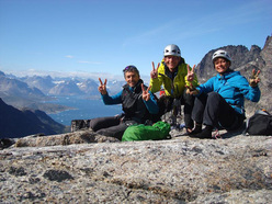 Andres Lietha, Michi Wyser, Caroline Morel on Dos Canones, Quvnerit Island, Greenland