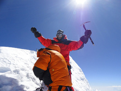 The ski and snowboard descent by Marco Galliano and Carlo Alberto Cimenti of Manaslu