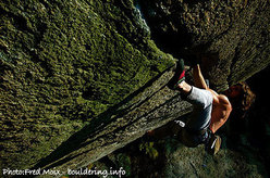 Didier Berthod climbing Greenspit, Valle dell'Orco.