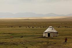 La vita dei nomadi Kirghizistan