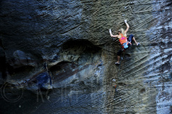 Sasha DiGiulian redpointing Pure Imagination 9a at Red River Gorge, USA.