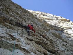 Alessio Roverato su L2 di Momento Libero, Sasso Rosso, Valbrenta - Canal di Brenta