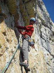 Alessio Roverato su L4 di Momento Libero, Sasso Rosso, Valbrenta - Canal di Brenta