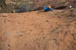 Hungarob Combination, new multi-pitch on the Brandberg, Namibia