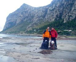 Massimo Flaccavento e Giuseppe Barbagallo al ritorno dalla Punta Baloo dopo aver aperto Stella di Periferia - Punta Baloo, Monte Gallo, Palermo