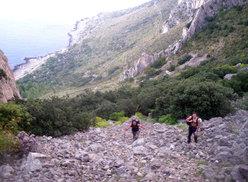 Giorgio Iurato e Giuseppe Barbagallo in avvicinamento alla Punta Baloo