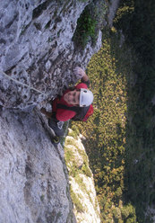 Giuseppe Barbagallo sul sesto tiro durante la prima libera di Stella di Periferia - Punta Baloo, Monte Gallo, Palermo