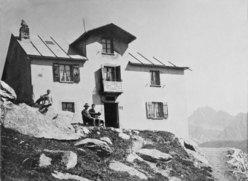 Foto storica Rifugio Pavillon, Mont Fréty, Monte Bianco, Courmayeur