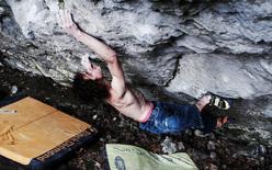 Adam Ondra su Terranova, 8C+