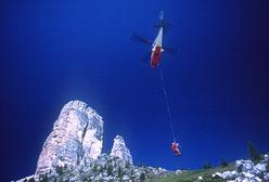 Esercitazione di soccorso in montagna alle Cinque Torri, Dolomiti