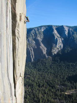 Sonnie Trotter on The Prophet  (5.13d R), El Capitan, Yosemite.