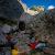 Bouldering at the Blaueisgletscher, Berchtesgarden, Germany