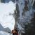 Colin Haley  su roccia coperta di ghiaccio sale da secondo la parte superiore di El Arca de los Vientos, sulla parete nord del Cerro Torre