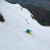 31/05/2013: Davide Capozzi e Julien Herry durante la prima discesa conosciuta della parete Nord di Becca di Nona (3142m) sopra Aosta.