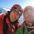 Corrado Pesce and Jeff Mercier on the summit of the Chris Bonington - Rafael Tejada-Flores route, West Face Aiguille du Plan