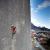 Alex Luger making the first ascent of Psychogramm 8b+, Bürser Platter, Austria