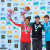 Haiyang, Cina Lead podio maschile: Sean McColl, Jakob Schubert, Gautier Supper